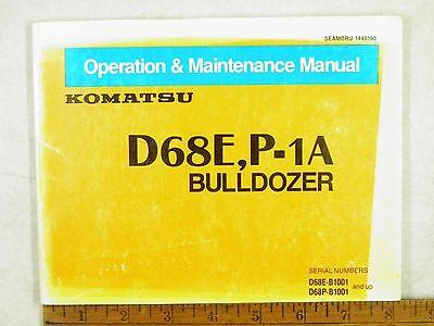 KOMATSU  D68E,P-1A OPERATION & MAINTENANCE MANUAL B1001