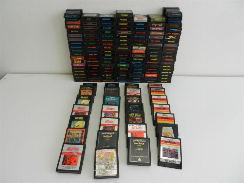 Lot of 158 Atari 2600 Games - Space Invaders, Pac-man, Centipede