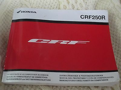 Honda CRF 250 r 2013 motoX MX crosser workshop manual