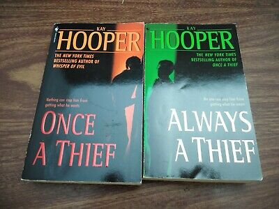 Kay Hooper Books Once a Thief Always a Thief Lot of 2