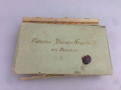 Antik Feinster Damen - Siegellack mit Petschaft in OVP 20er 30er 40er