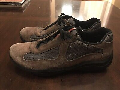 - Prada Americas Cup Suede Sneakers Shoes Size US 8.5