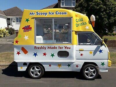 ice cream van vauxhall bedford rascal