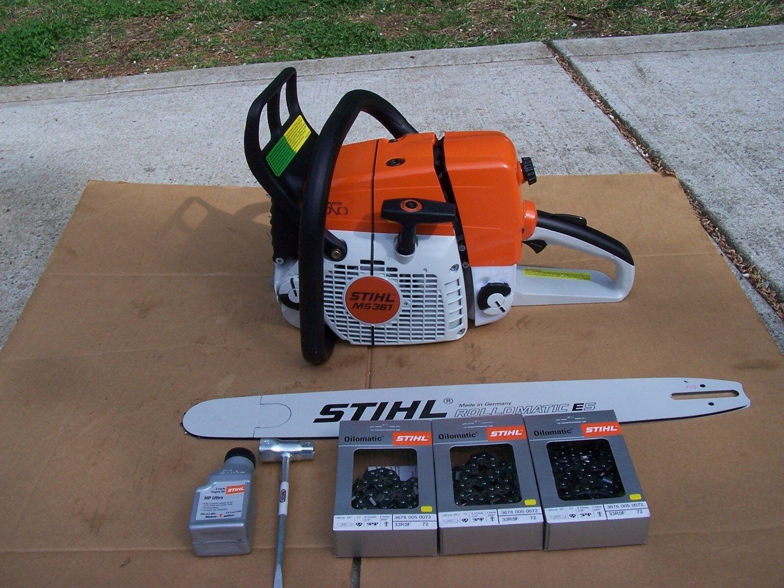Stihl Ms361 Chainsaw 20 Bar Three Chains