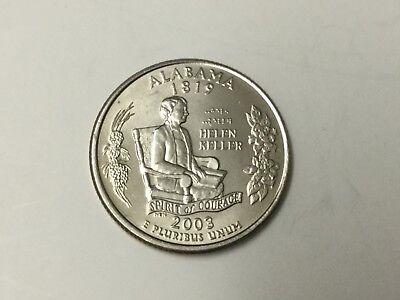 2003D ALABAMA STATE QUARTER  2003 Alabama State Quarter