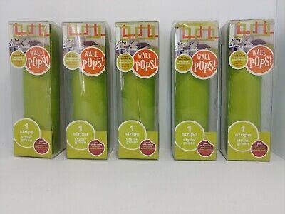 Wall Pops Stylin' Green Stripe Lot of 5 Brand New Boxes Stylin Green Stripe
