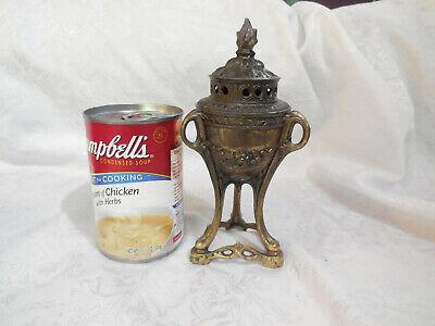 Antique Bronze Incense Burner Made In France Depose Flame Finial      N/R