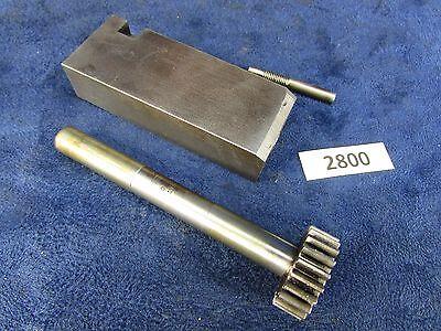 1905 Rivett 608 Lathe Carriage Bearing Block Cross-feed Gear 2800