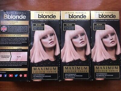 4 X Jerome Russell Bblonde Non Permanent Maximum Blonde Colour BLUSH 75ml