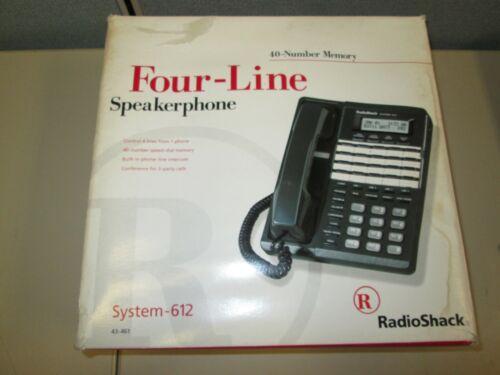 RadioShack Four-Line Speakerphone System 612 40-Number Memory