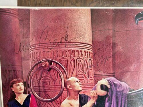 Ten Commandments Autographed Color Pic Yul Brynner & Anne Baxter RARE!