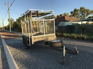 7x4 john papas box cage trailer modified for a/c installs or camping Murdoch Melville Area Preview