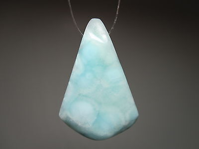 Blue Aragonite Gemstone Focal Bead Natural Stone Jewelry Necklace Pendant