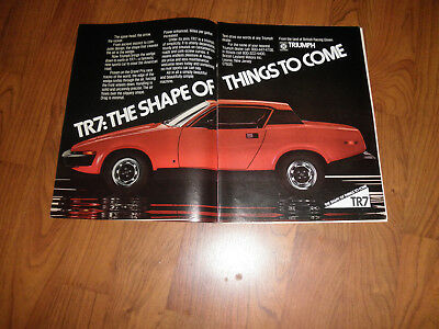 TRIUMPH TR7 AD-1975--Cool collectible