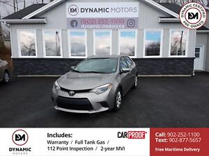 2014 Toyota Corolla LE OWN FOR $126 B/W, 0 DOWN, OAC