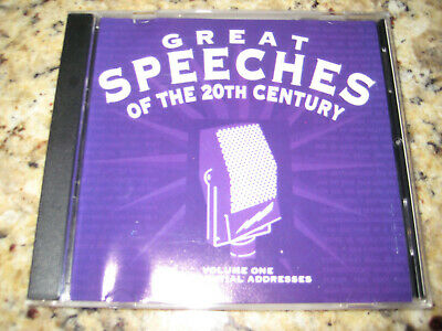 Great Speeches of the 20th Century Vol. 1: Presidential Addresses  Audio (Great Speeches Of The 20th Century Cd)