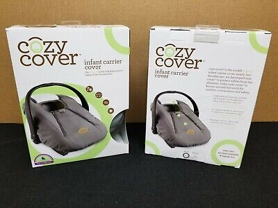 Cozy Cover Infant Carrier Cover - Secure Baby Car Seat Cover - Gray Charcoal