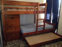 Longwall bunk with mid-line chest and trundle Yallambie Banyule Area Preview