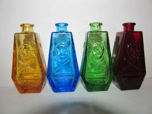 4 Wheaton Poison Bottles Vintage