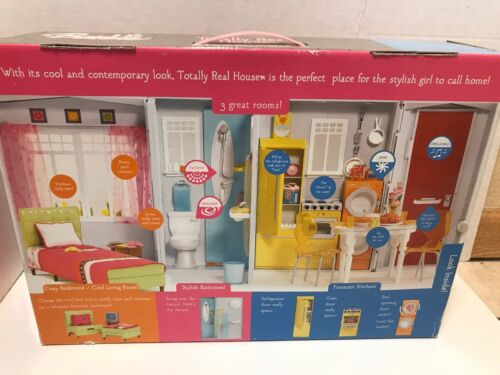 Barbie Doll Totally Real Vtg House Foldout 2005 Furniture Lot Accessories Sound