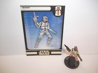 Star Wars Miniatures - Bossk 56/60 + Card - Rare - Rebel Storm