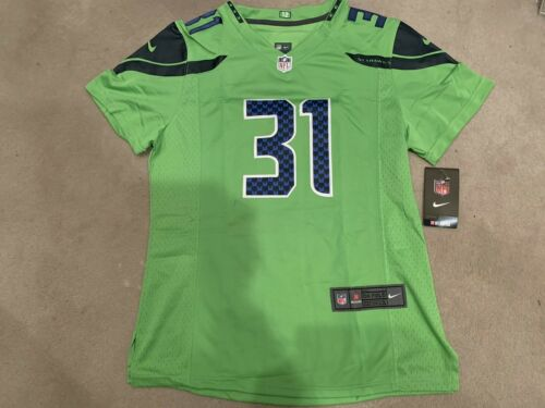 Women Seahawks #31 Kam ChancellorGreen Stitched Limited Rush Jersey