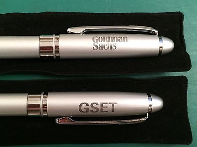 2  Goldman Sachs  Gset  Pens  New In Pen Bags  Made By Leeds  New  Never Used