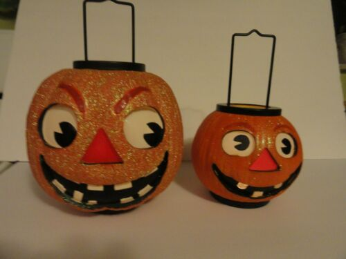 ILLUMINATIONS  Halloween Large And Small GRINNING PUMPKIN LANTERNS