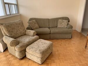 Couch and chair with ottoman