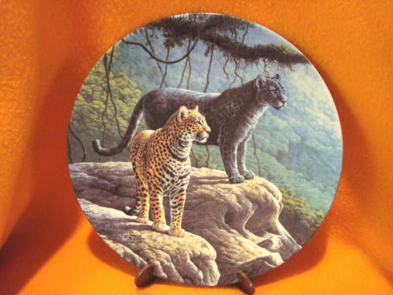 Edwin M. Knowles ~ The Jaguar Collector's Plate ~ Lee Cable ~ 1989 ~ 84-K41-67.1
