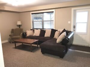 Sectional Bi-cast and Brown Corduroy