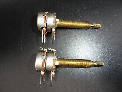 Cts Audio Taper 500k Dual-gang Potentiometer 2 14 Shaft Lot Of 2