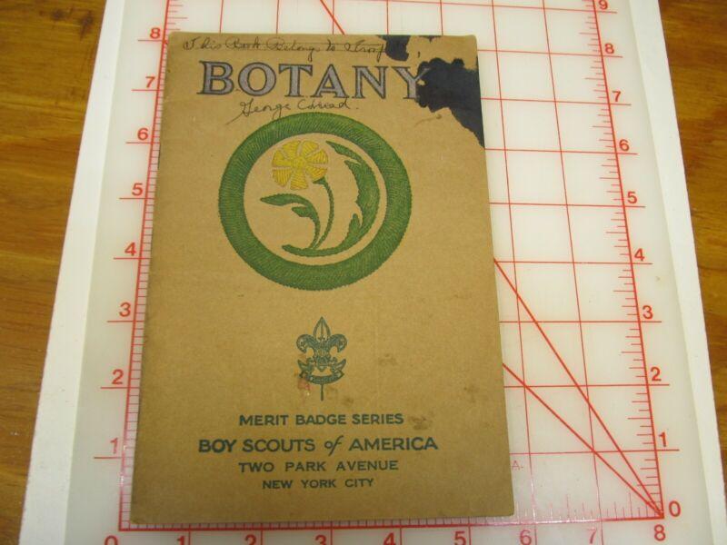 Tan cover Botany merit badge book march 1933 type (3B)
