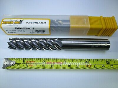 58 Carbide Dura-mill End Mill 5 Long Reach Length Steel Milling 6 Flute Tool