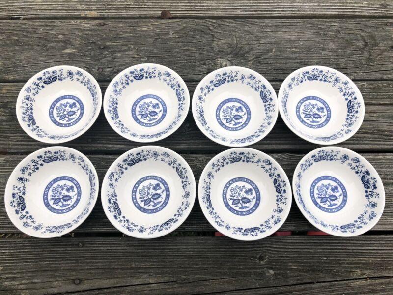Lot Set Of 8 Blue Onion Danube (Japan) Soup Cereal Bowl