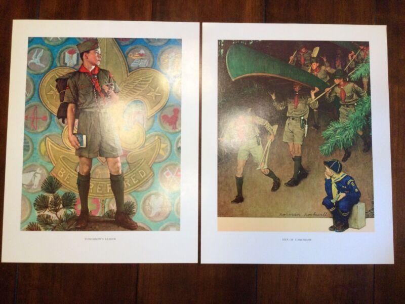 "Set Of 2 Norman Rockwell Prints 11""x14"" Tomorrow's Leader, Men Of Tomorrow NICE!"