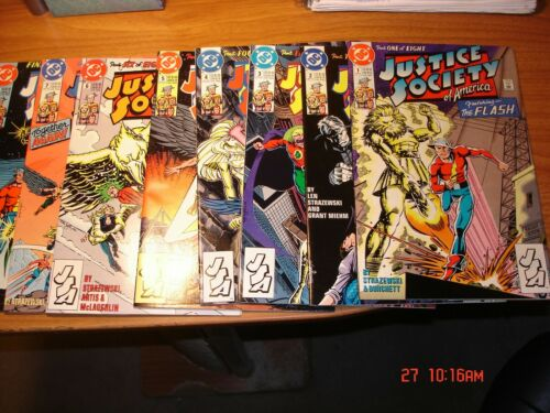 JUSTICE SOCIETY OF AMERICA 1-8 Complete Run Limited series JSA DC Comics 1991