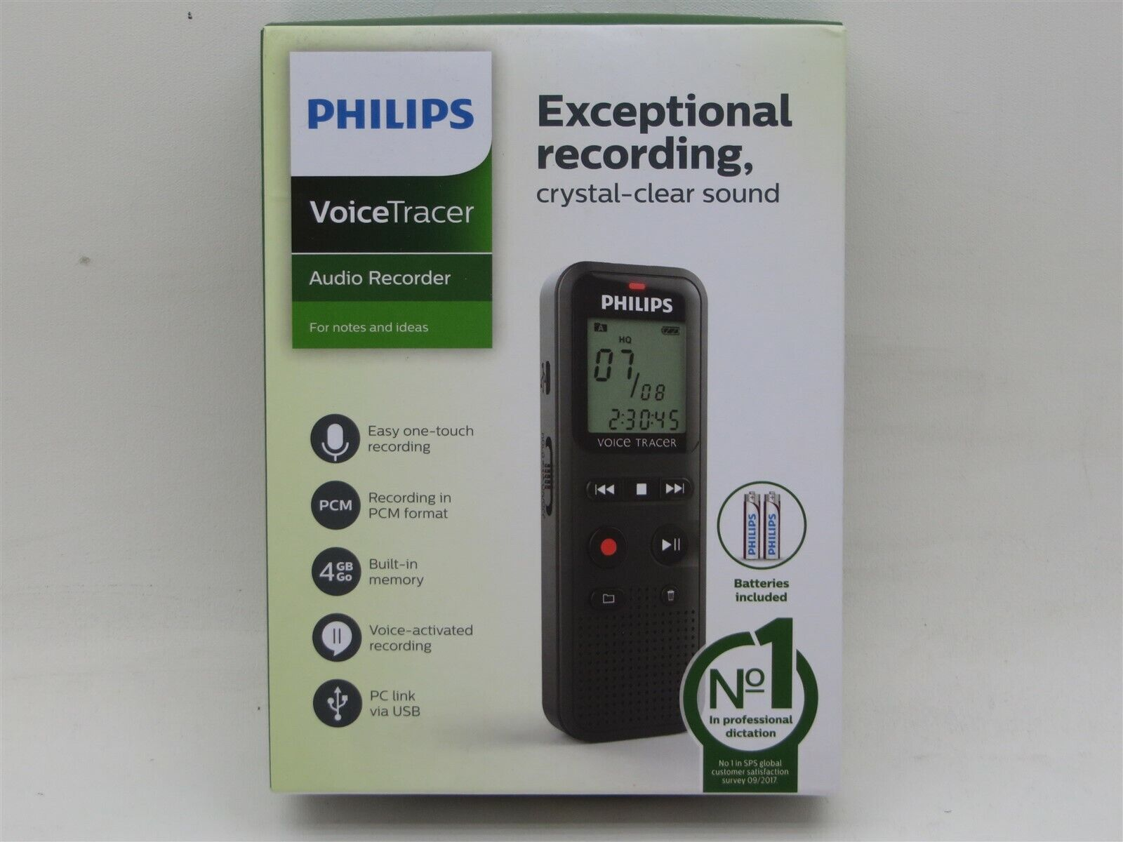 Philips Voice Tracer 1150 Digital Audio Recorder 4GB Voice-A