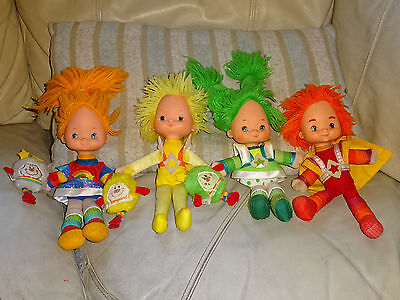 """Rainbow Brite Dolls 10"""" Toys Red Butler Patty O'Green Canery Yellow 1983 80's"""