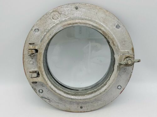 Vintage WC Wilcox Crittenden #6 Steel Boat Porthole w/ Flange - Nautical Salvage