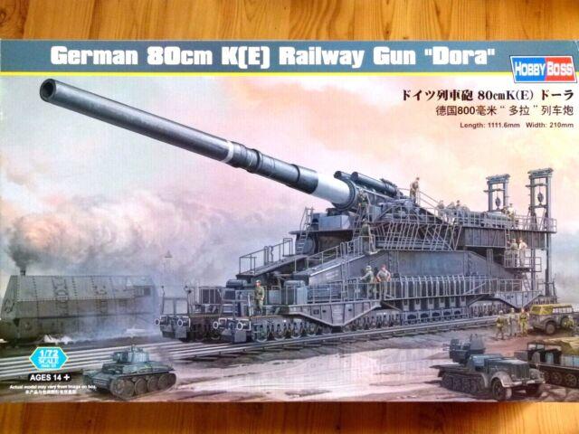 """Hobbyboss 1:72 80cm K(E) """"Dora"""" German Rail Gun Model Kit"""