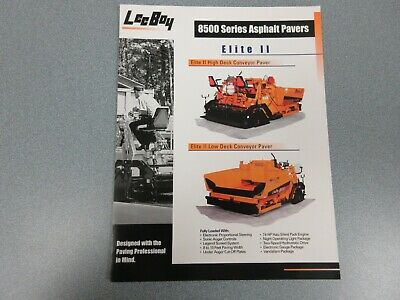 Leeboy 8500 Elite 2 Asphalt Paver Color Sales Brochure 6 Pages