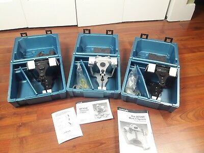 Lot 3 Denar Mark I I Semi Adjustable Dental Articulator Hanau Whipmix Lab Wax
