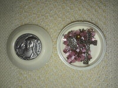 ANTIQUE PINK /& CRYSTAL STAR Stained Glass Lightcatcher with Hand Scrolled Wire