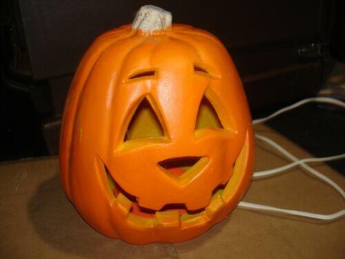 Paper Magic   Pumpkin Carved plastic foam  yard decor  lighted  JOL  Halloween