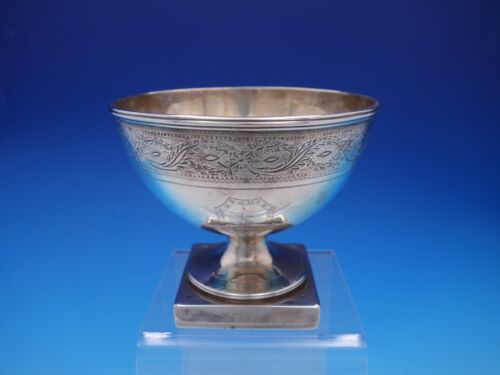 1792 Georgian English Sterling Silver Hand Engraved Waste Bowl  (#4311)