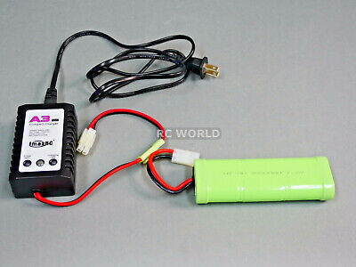 RC Battery + Charger Combo 7.2V 3000MAH 6 Cell BATTERY PACK + Quick CHARGER -
