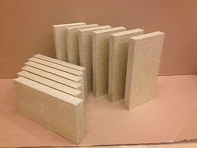 "10 X VERMICULITE BRICKS ( 4.5""X9""X1"" )  VILLAGER STOVE firebrick fire bricks"