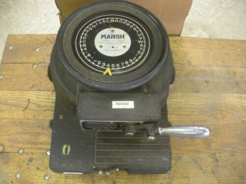 Marsh Stencil Cutting Machine H 4230 , 1/2 inch