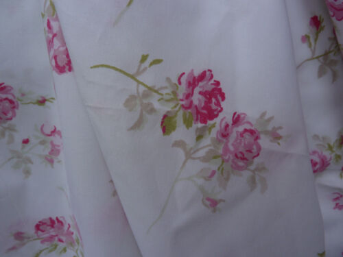 "Rachel Ashwell Shabby Chic Scattered Pink  Roses on White 108"" wide- Bedding"